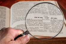 Magnifying Glass On Famous Bib...