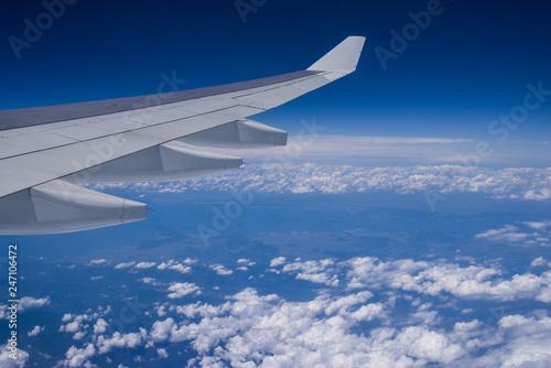 Fotografie, Obraz  機内からの風景 青空と白い雲