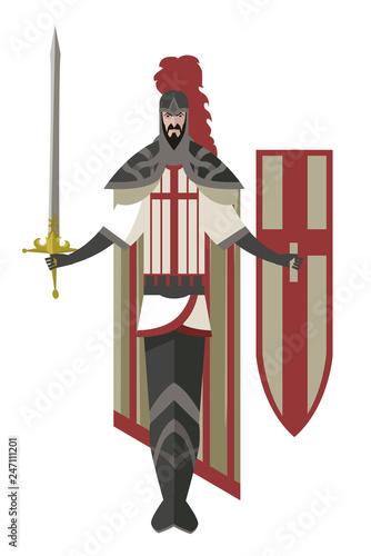 Photo  crusader knight warrior