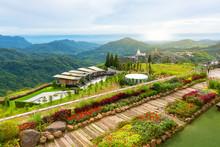 Landscape Of Green Mountain And Cloudy Sky View Point Phasornkaew Temple Khao Kho Phetchabun Thailand.