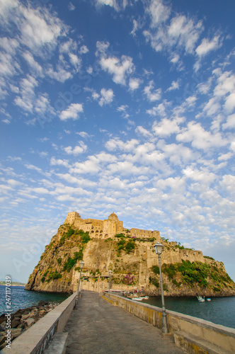 Fotomural Front view of Aragonese castle, Ischia, Italy