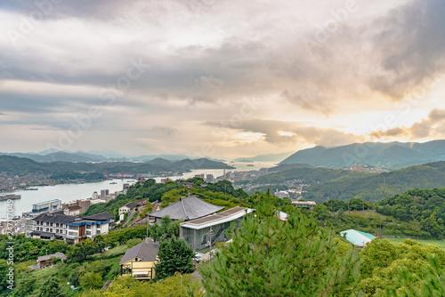 Foto op Canvas Asia land 尾道と向島の夕景