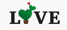 Concept Love Slogan. Vector Il...