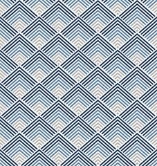 Fototapeta Japoński Geometric pattern vector. Blue Japanese background. triangle elements.