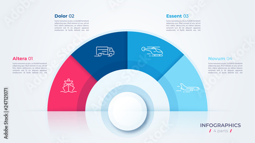 Vector circle chart design, modern template for creating infographics, presentat Canvas Print