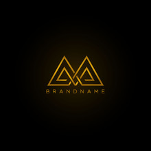 Abstract Letter AA . Luxury Logo Design Template. Vector Letter Logo With Gold And Black Color
