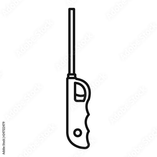 Fényképezés  Long electric lighter icon