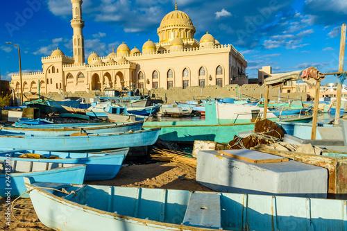 Mosque El Mina Masjid in a Hurghada city, Egypt
