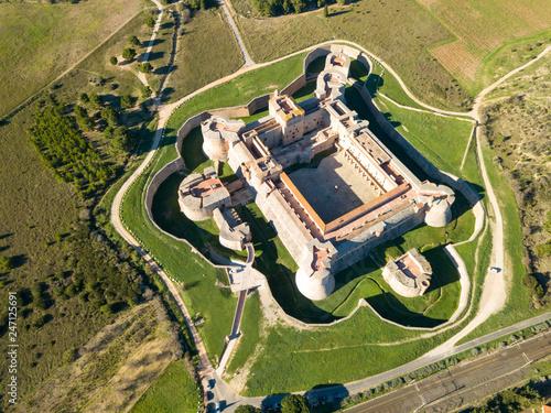 Keuken foto achterwand Historisch geb. Aerial view of Fort de Salses, France