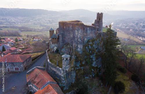 Fotobehang Historisch geb. Medieval Bouzols Castle