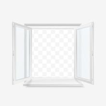 White Office Plastic Window. W...