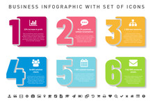 Step By Step Infographics Template With Icons And Sample Text