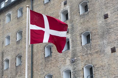 Danish flag outdoors Tapéta, Fotótapéta