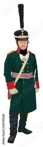 Russian infantry officer around year 1812 Fototapete