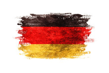 Flag Of Germany With Old Texture.