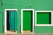 Leinwanddruck Bild - Colorful houses taken on Burano island , Venice, Italy