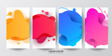 Dynamic Liquid Shapes. Set Of Smart Phone Payment. Decorative Editable Templates For Social Media Stories