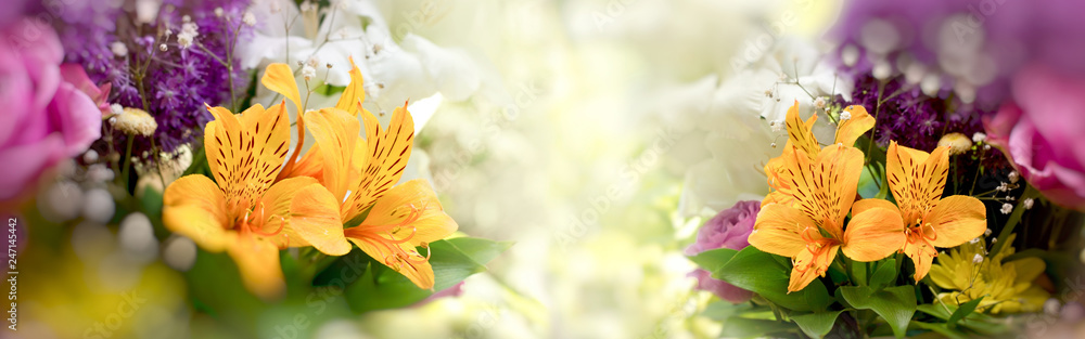 Fototapety, obrazy: Beautiful flowers, bouquet of flowers