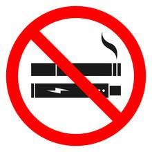 NO SMOKING, NO VAPING Combined Sign. Printable Sticker. Vector.
