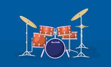 Concert Drums Kit Banner. Flat...