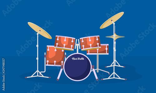 Fotografia, Obraz Concert drums kit banner