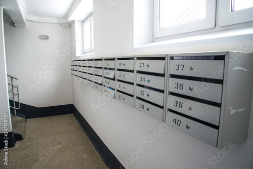 Mailboxes in a residential apartment building - Buy this ...