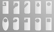Hanger Tags Icons Set. Realistic Set Of Hanger Tags Vector Icons For Web Design