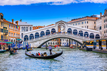 Rialto Bridge And Grand Canal ...