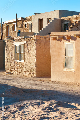 Foto op Plexiglas Centraal-Amerika Landen Traditional adobe houses in Acoma Pueblo, Native American reservation near Albuquerque, New Mexico