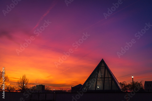 Foto auf Leinwand Hochrote Beautiful Sunset in Trenton New Jersey
