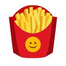 Fries Box Emoji Vector