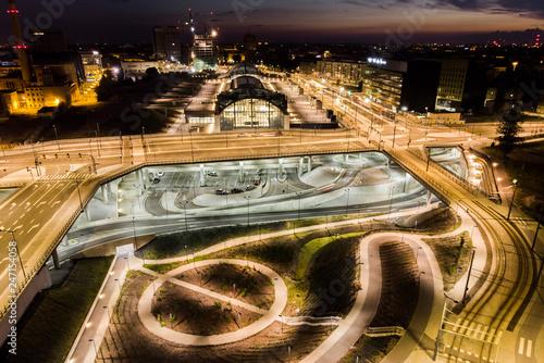 Fototapeta Łódź, Poland- view of the train station. obraz