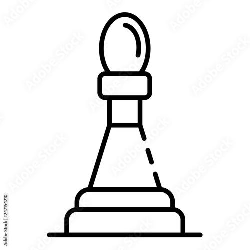 Fotografía  Tactic chess bishop icon