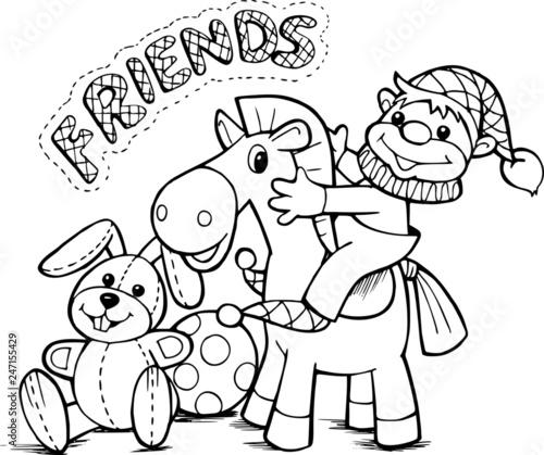 Weseli przyjaciele