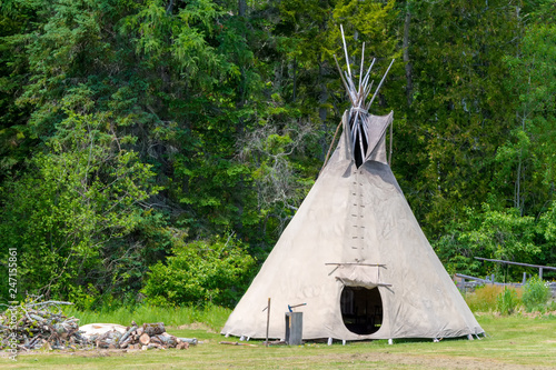 A teepee tent Canvas