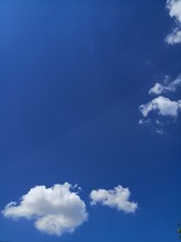 Blue Sky With Few Clouds And Copy Space
