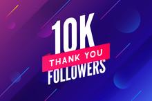 10000 Followers Vector. Greeti...