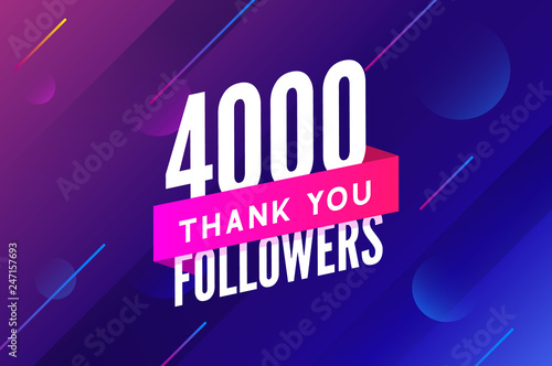 Fototapeta  4000 followers vector