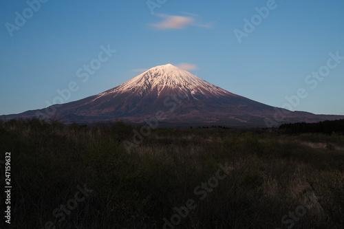 Deurstickers Canarische Eilanden Mount Fuji Rural Perspective