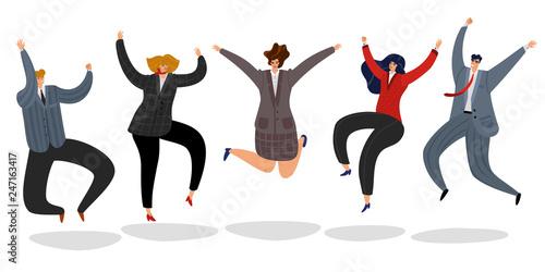 Fotografía Business people jumping