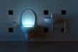 canvas print picture - Toilette leuchtet von Innen
