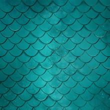 Turquoise Mermaid Scale Texture