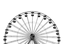 Ferris Wheel With White Backgr...