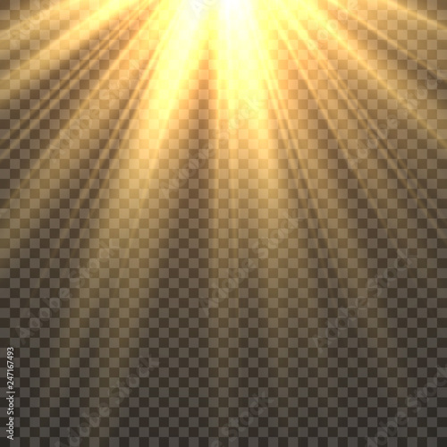Sunlight isolated Canvas Print