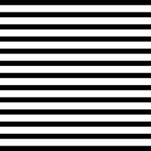 Black And White Horizontal Stripes Vector Seamless Pattern.