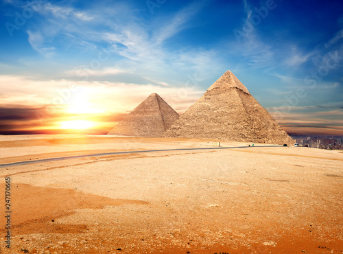 Egyptian pyramids in the Giza #247170665