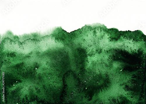 Fotografía  Green watercolor background, abstract watercolor texture