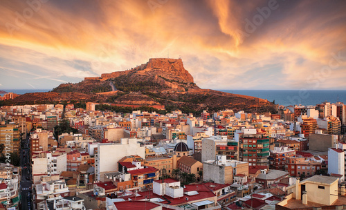 Tela Alicante - Spain at sunset