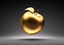 Goldener Schwebender Apfel Vor...