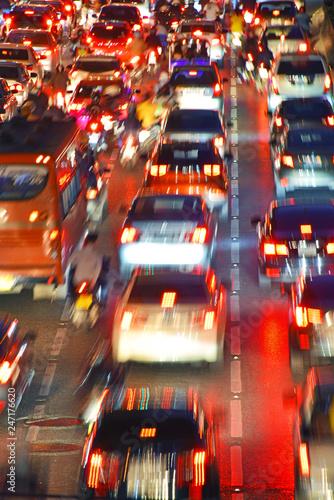 Fototapety, obrazy: Street of Bangkok during rush hour